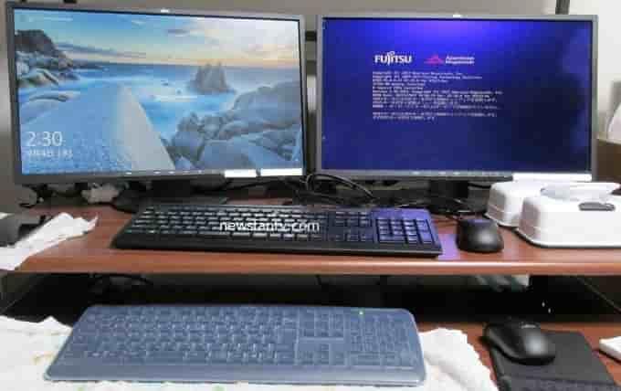 パソコン2台をキーボードとマウス1台分