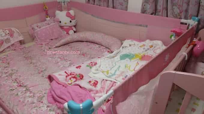 子供がベッドから落ちるので転落防止