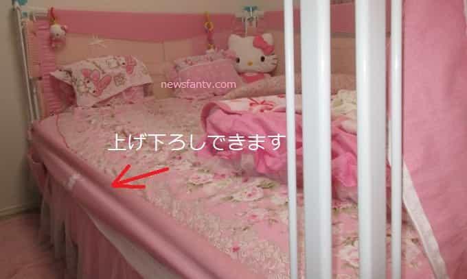 子供がベッドから落ちる