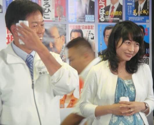 長谷川岳の夫人の顔画像