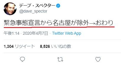 デーブ・スペクターの反響ツイート