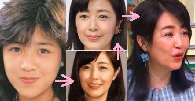 菊池桃子の顔が変わった