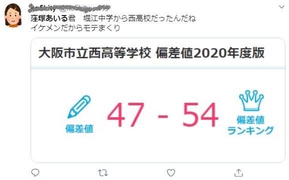 窪塚愛流 堀江中学校から大阪市立西高校に進学